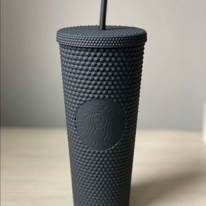 Starbucks Matte Black Cold Drink Tumbler Cup.